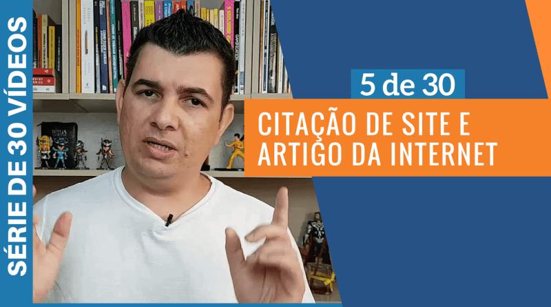 CITACAO DE SITE E ARTIGO DA INTERNET