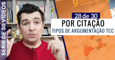 Tipos De Argumentação TCC - Argumentar Com Citação