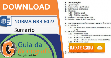 Norma ABNT NBR 6027