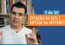 CITAÇÃO DE SITE E ARTIGO DA INTERNET 🌐