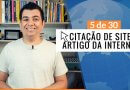 CITAÇÃO DE SITE E ARTIGO DA INTERNET