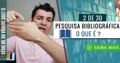 O que é Pesquisa Bibliográfica ?
