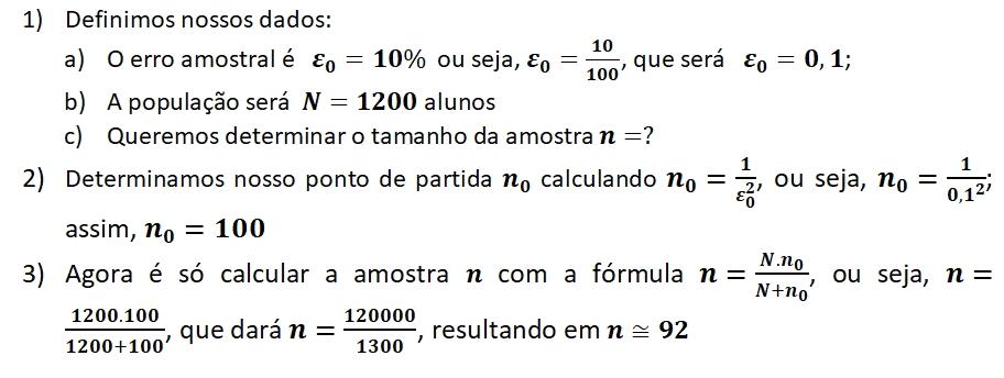 Calculo amostral