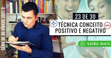 Técnica Conceito Positivo e Negativo