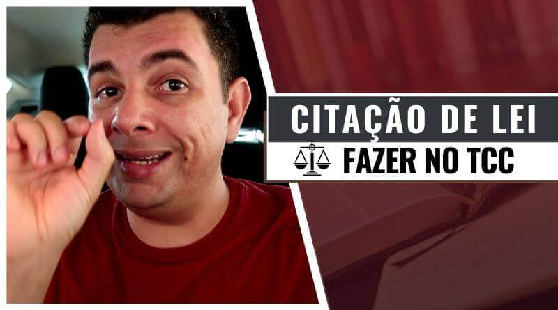 Citar Lei no Texto do TCC