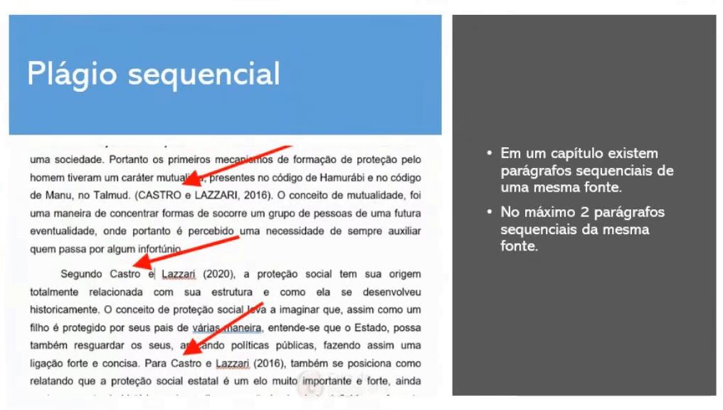 Exemplo plágio sequencial