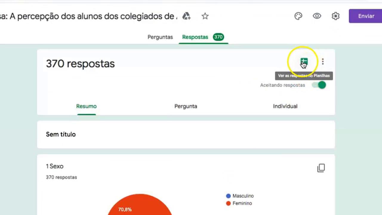 Botão para exportar gráfico para o Google Planilhas