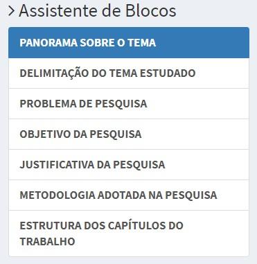 Assistente de Blocos