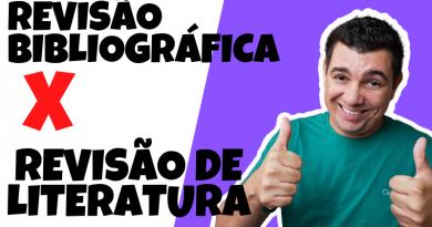 DIFERENÇAS TCC Revisão Bibliográfica e Revisão de Literatura!