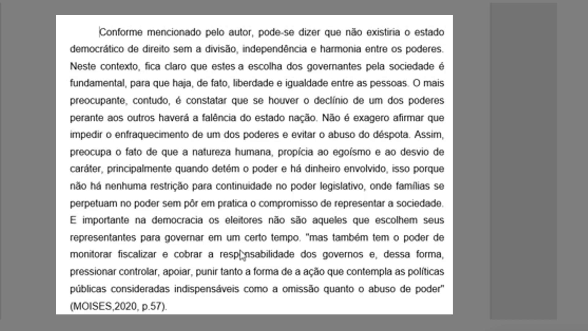 Exemplo parágrafo longo