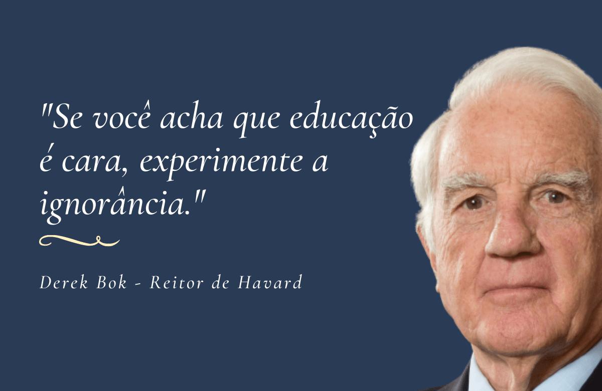 Derek Bok, reitor de Havard