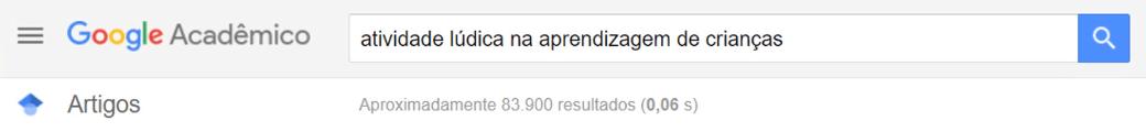 Atividade lúdica no Google Acadêmico