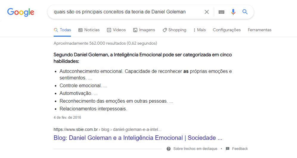 Principais conceitos Daniel Goleman